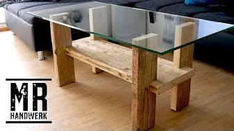 Möbel aus Gerüstbohlen - YouTube