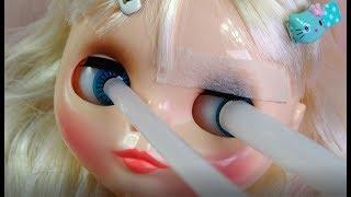 ★혐주의★브라이스인형 안구칩 교환 가발변신~인형옷입히기★Customizing Blythe Dolls!!★eyechips wigs/Doll Dress Up