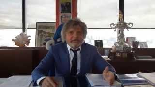 Il presidente Ferrero augura buon compleanno a Crozza