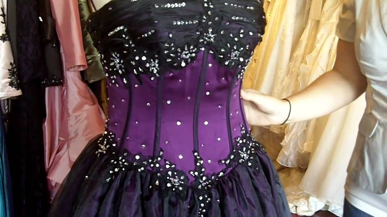 Purple And Black Gothic Wedding Dress From Http://www
