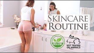 Full Skin Care Routine ORGANIC &  Cruelty Free Season 2 Vlog 48