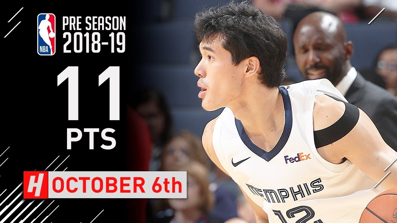 info for 218cf 25e44 Yuta Watanabe Full Highlights Grizzlies vs Pacers 2018.10.06 - 11 Points,  CLUTCH!