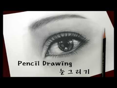 30분 연필그림 Pencil sketch - 눈그리기 [How to draw a realistic eye / Speed drawing]