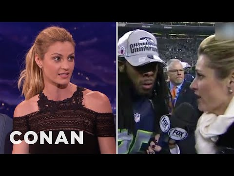 Erin Andrews' Crazy Richard Sherman Interview  - CONAN on TBS