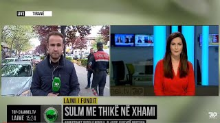 Top Channel/ Sulm me thikë në xhami/ Arrestohet Rudolf Nikolli, plagosi gjashtë persona