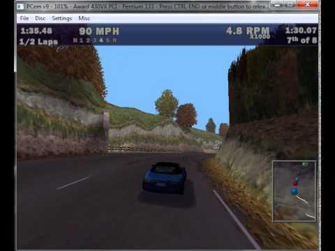 Video: PCem (PC emulator) running Need For Speed III (3DFX)