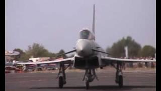 RAF Eurofighter Typhoon jet fighter under stormy skies