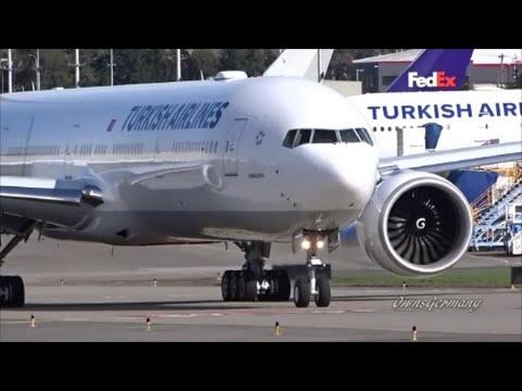 2 Turkish Boeing 777's Depart Together for Istanbul Delivery Flight *Huge Pilot Wave*