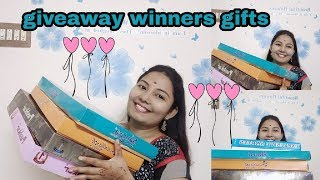 giveaway winners gifts/#sarees#giveaway#indianshoppingandvlogging#vlog#gifts