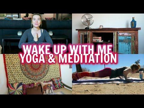 WAKE UP WITH ME | YOGA + MEDITATION | FIT FRIDAY