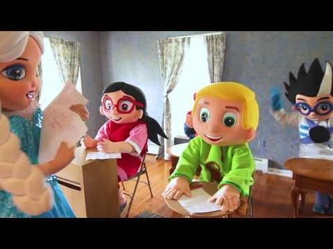 Superhero School Math Test In Real Life - Paw Patrol Rubble, Trolls IRL Videos For Kids
