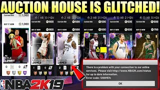 WE GOT LIMITED GALAXY OPAL LEBRON JAMES FOR CHEAP WITH THE AUCTION HOUSE GLITCH IN NBA 2K19 MYTEAM