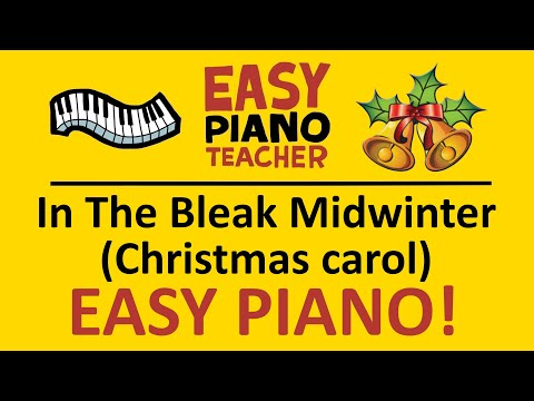 🎹 EASY piano: In The Bleak Midwinter keyboard tutorial (Christmas carol) by #EPT thumbnail