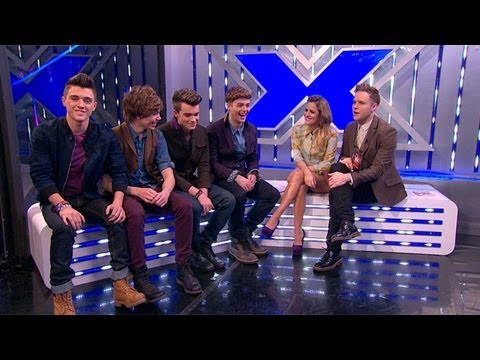 Union J's e-X-it interview - The Xtra Factor - The X Factor UK 2012