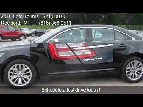 2016 ford taurus limited 4dr sedan for sale in rockford mi youtube. Black Bedroom Furniture Sets. Home Design Ideas