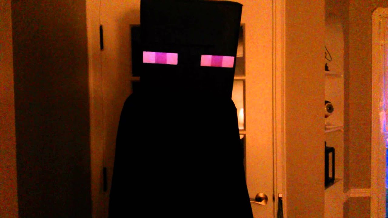 Enderman Costume With Arduino For Lights Sounds