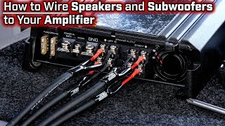 Video How To Wire Speakers and Subwoofers to Your Amplifier - 2, 3, 4 and 5 Channel - Bridged Mode download MP3, 3GP, MP4, WEBM, AVI, FLV Agustus 2018