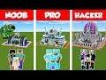 Minecraft NOOB Vs PRO Vs HACKER: SAFEST FUTURE  FAMILY HOUSE - BUILD CHALLENGE / Animation