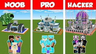 Minecraft NOOB vs PRO vs HACKER: SAFEST FUTURE  FAMILY HOUSE - BUILD CHALLENGE / Animation