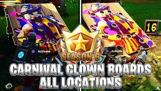 Get a Score of 10 or More on Different Carnival Clown Boards (Fortnite ALL LOCATIONS)
