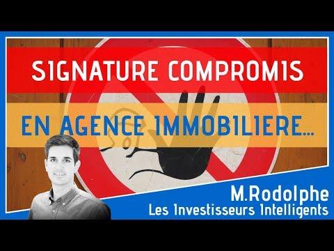 Investissement Immobilier Signature Du Compromis En Agence