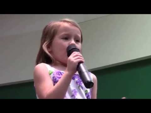 5 yr old Sings Bippity Boppity Boo and Let it Go. Live for first time.