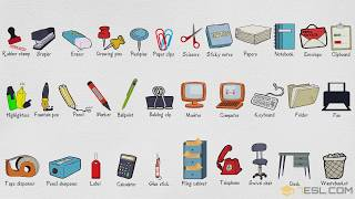Stationery and Office Supplies Vocabulary | Office Vocabulary in English