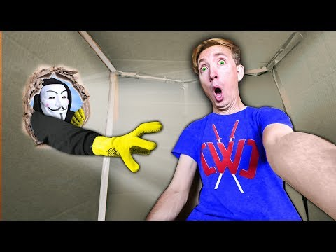 HACKER TRAPPED ME INSIDE A MYSTERY BOX for 24 HOURS! Last To Leave Escape Room Wins Challenge