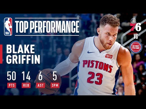 Blake Griffin Sets A NEW Career High 50 Points vs Sixers | October 23, 2018