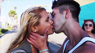 Kissing Prank - Spin the Bottle - How to Kiss ANY Girl - Kissing Strangers - Funny Pranks 2014