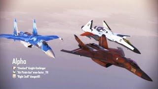 Ace Combat Infinity - Satellite Interception 1 (CFA-44 - Strigon Leader - )