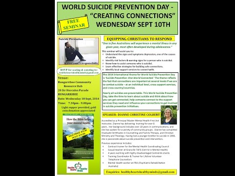 World Suicide Prevention Day - Community Presentation