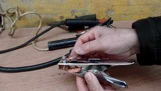 Обзор и доработка напильником недорогих новых массы и держателя электродов для моей сварки