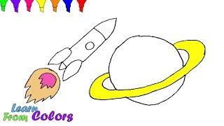 How To Draw Rocket Toy Coloring Pages For Kids