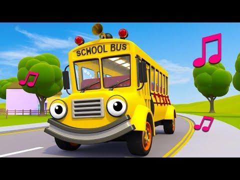 Wheels On The School Bus | Nursery Rhymes & Kids Songs | Gecko's Garage | Bus Song For Kids