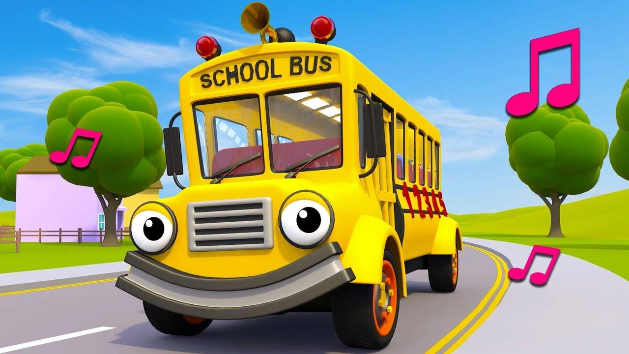 Wheels On The School Bus | Nursery Rhymes & Kids Songs | Gecko's Garage | Bus  Song For Kids - YouTube