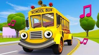Wheels On The School Bus | Nursery Rhymes & Kids Songs | Gec...