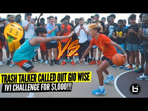 Download Trash Talker Challenged Gio Wise 1v1 For $1,000! Shut Down The Park 😂😂