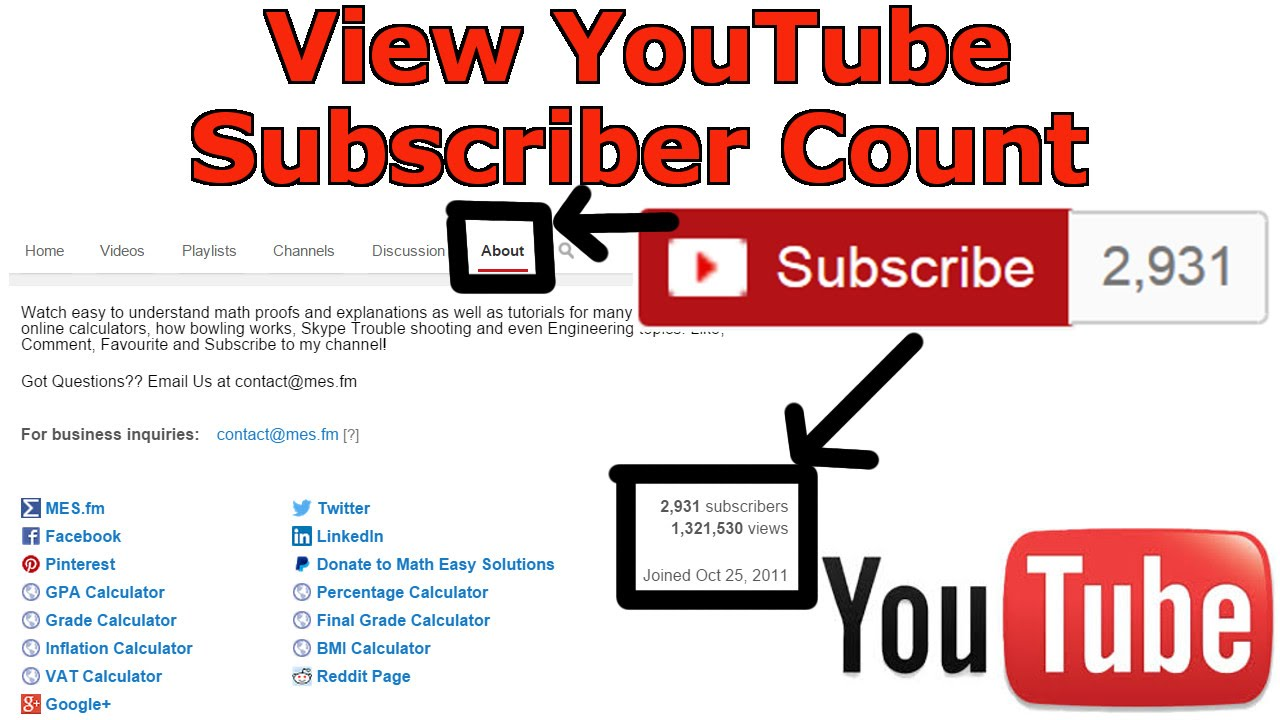 View Youtube Subscriber Count Without Unsubscribing Youtube