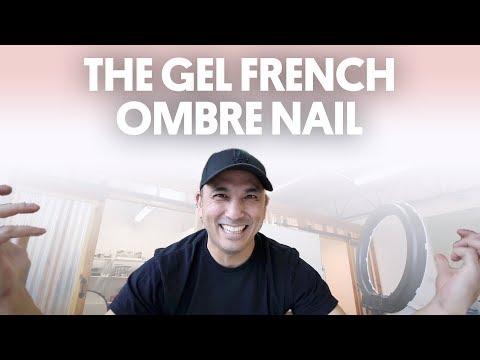 THE GEL FRENCH OMBRE NAIL DESIGN