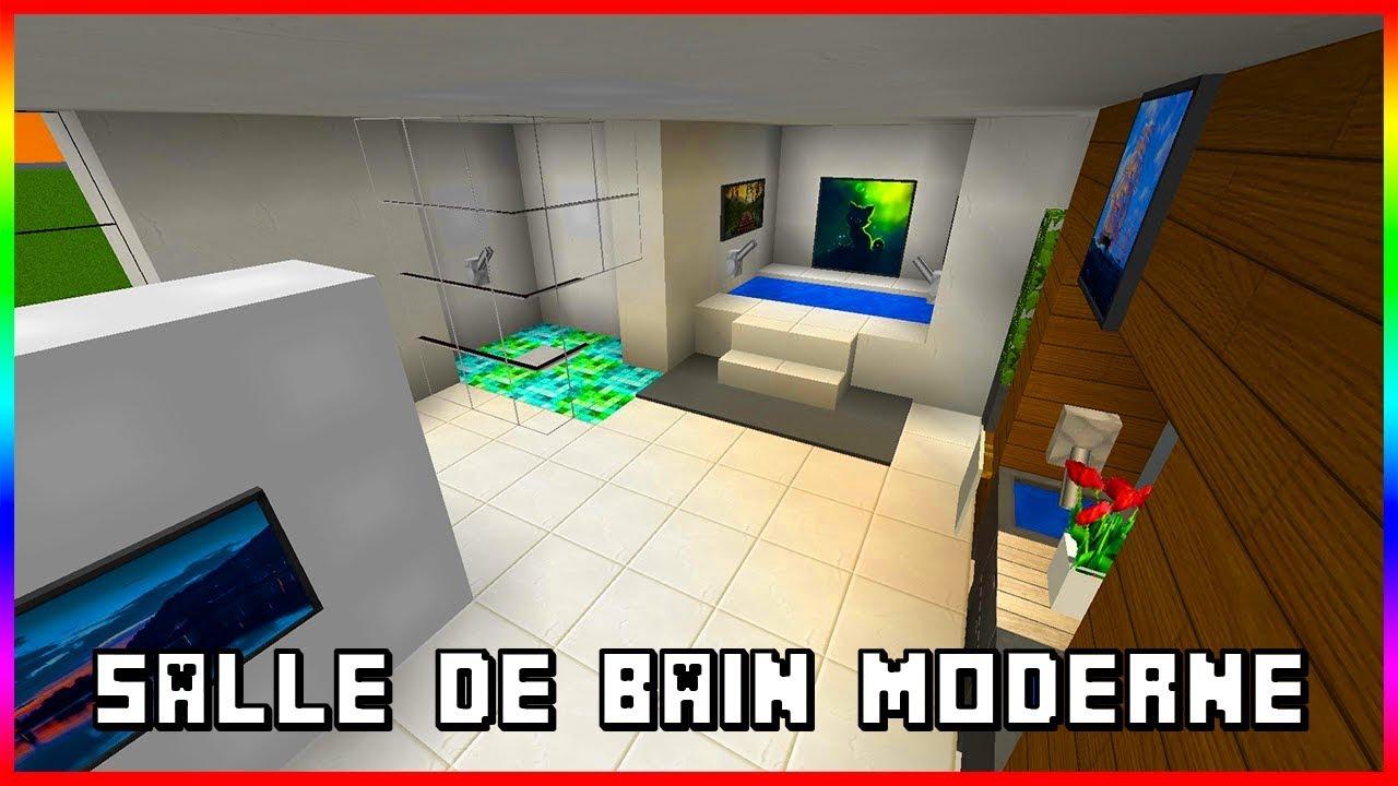 TUTO MINECRAFT : FAIRE UNE SALLE DE BAIN MODERNE ! - YouTube