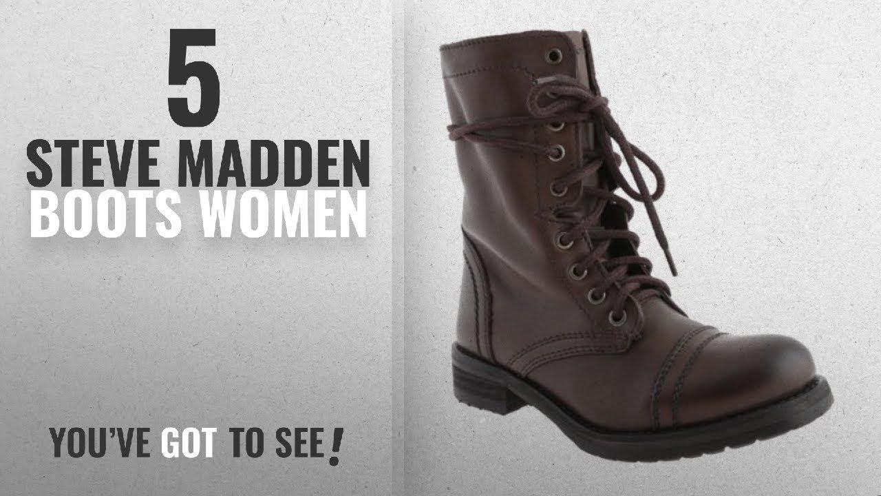 98f0e04ad0d Top 5 Steve Madden Boots Women  2018   Steve Madden Women s Troopa 2 ...