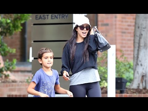 Kourtney Kardashian Steps Out With Mason After Reuniting With Scott Disick
