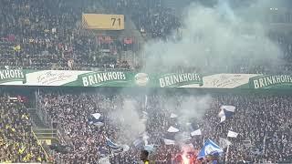 Borussia Dortmund : Hertha BSC Pyroaktion