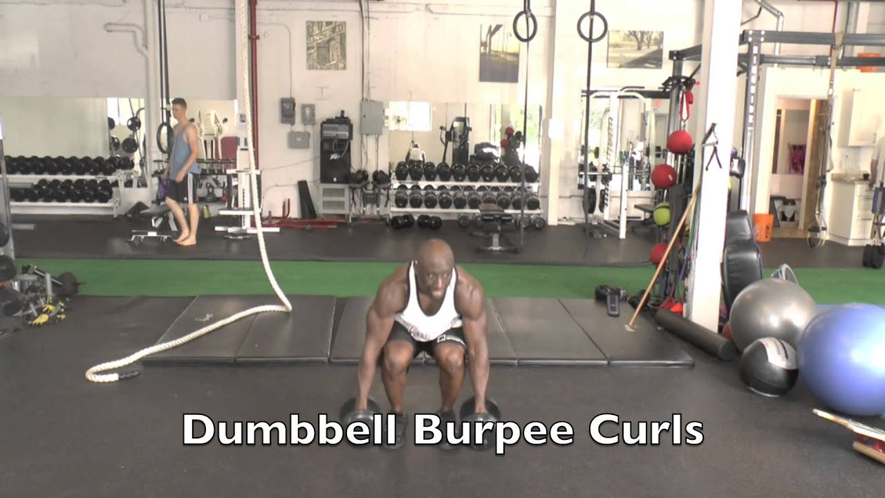 Burpees  Burpee Workout with Dumbbells  YouTube