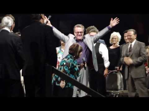 Wesley Pritchard, Mark Lowry, and Libbi Perry Stuffle sing What a Lovely Name