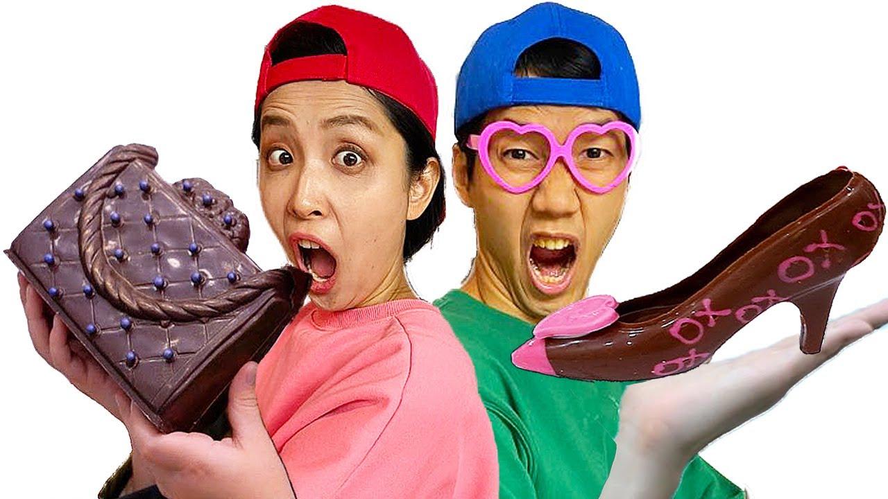 Mukbang Maltesers Chocolate Challenge Ice Cream Shoes