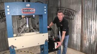 Baileigh Industrial Hsp-66m Hydraulic 66 Ton H Frame Press Shop Press Pressing Machine
