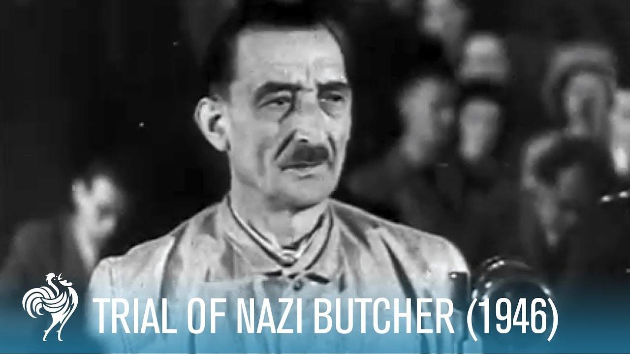 Trial Of Nazi Butcher Heinrich Jöckel (1946) | British Pathé