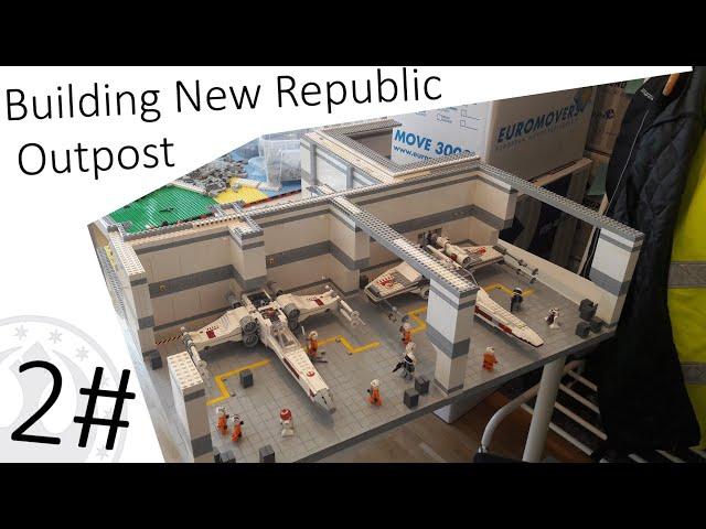 Building New Republic Outpost Moc #2 Das erste Hangar Deck